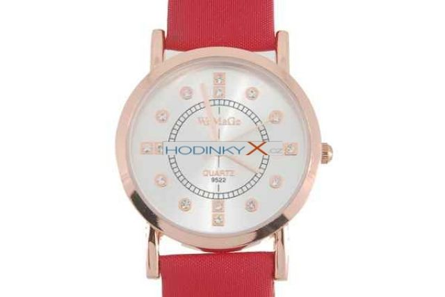 Hodinky Fashionable Crystal Quartz červeno-bílé d9f7472cd98
